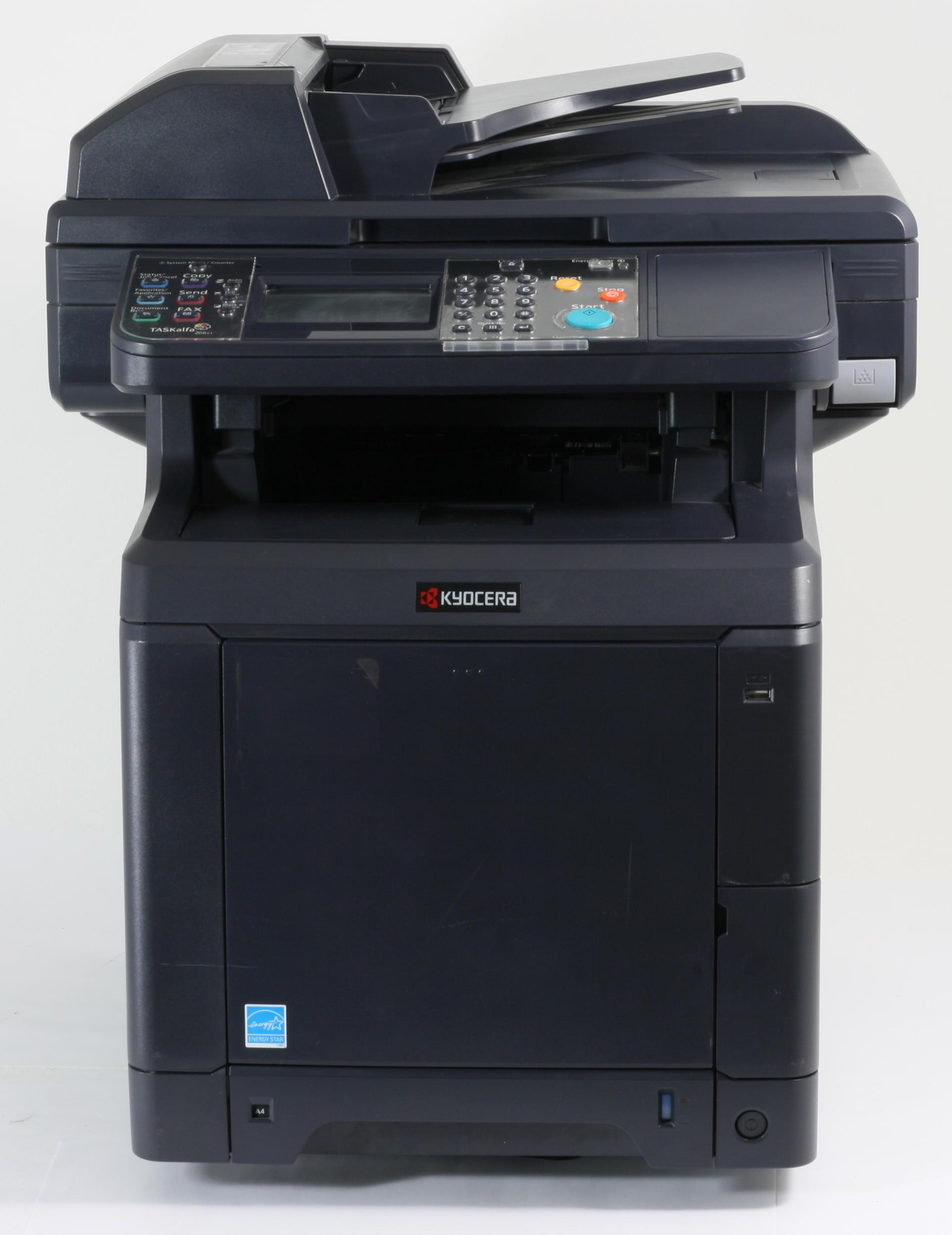 Kyocera Taskalfa 266ci MFP Drucker Laserdrucker Kopierer Scanner Fax Color gebraucht /  unter 75.000 Seiten gedruckt