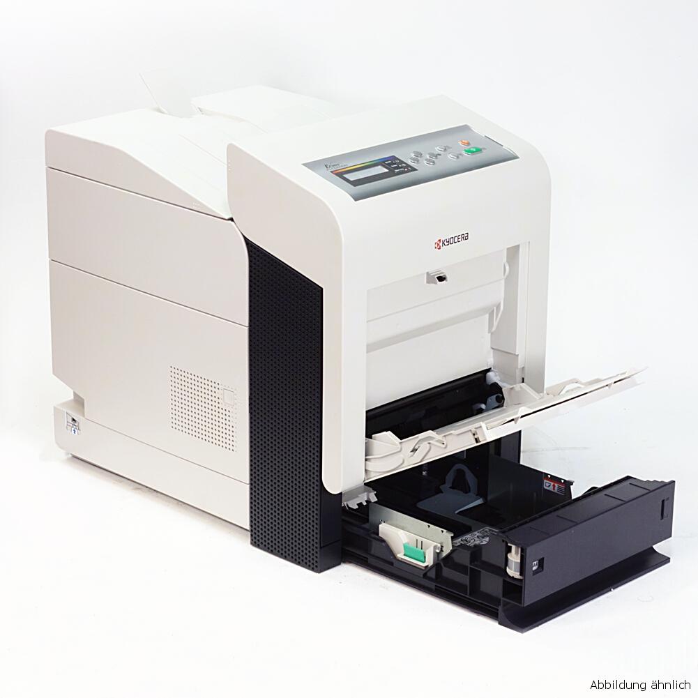 Kyocera FS-C5350DN Color Drucker Netzwerk Duplex Laserdrucker gebraucht unter 10.000 Seiten gedruckt