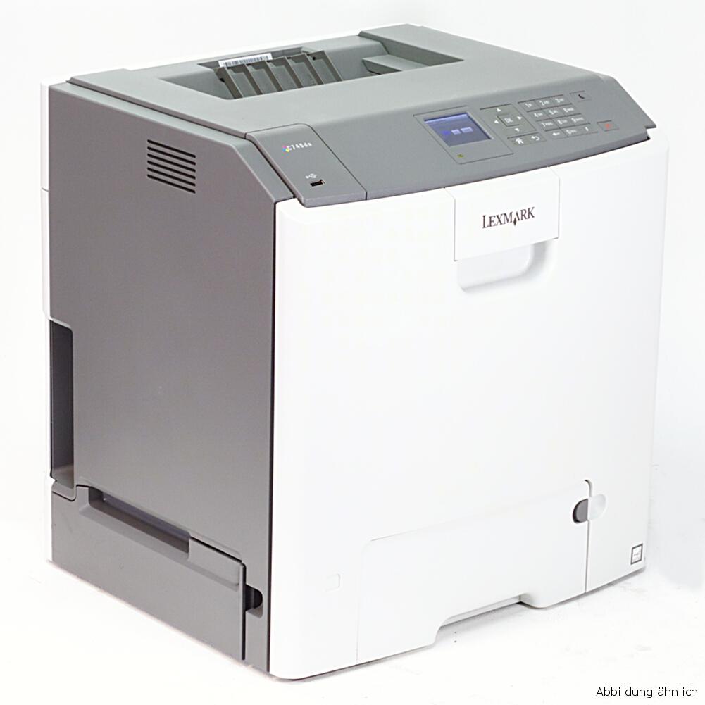 Lexmark C748de Color Drucker Laserdrucker gebraucht unter 20.000 Seiten gedruckt