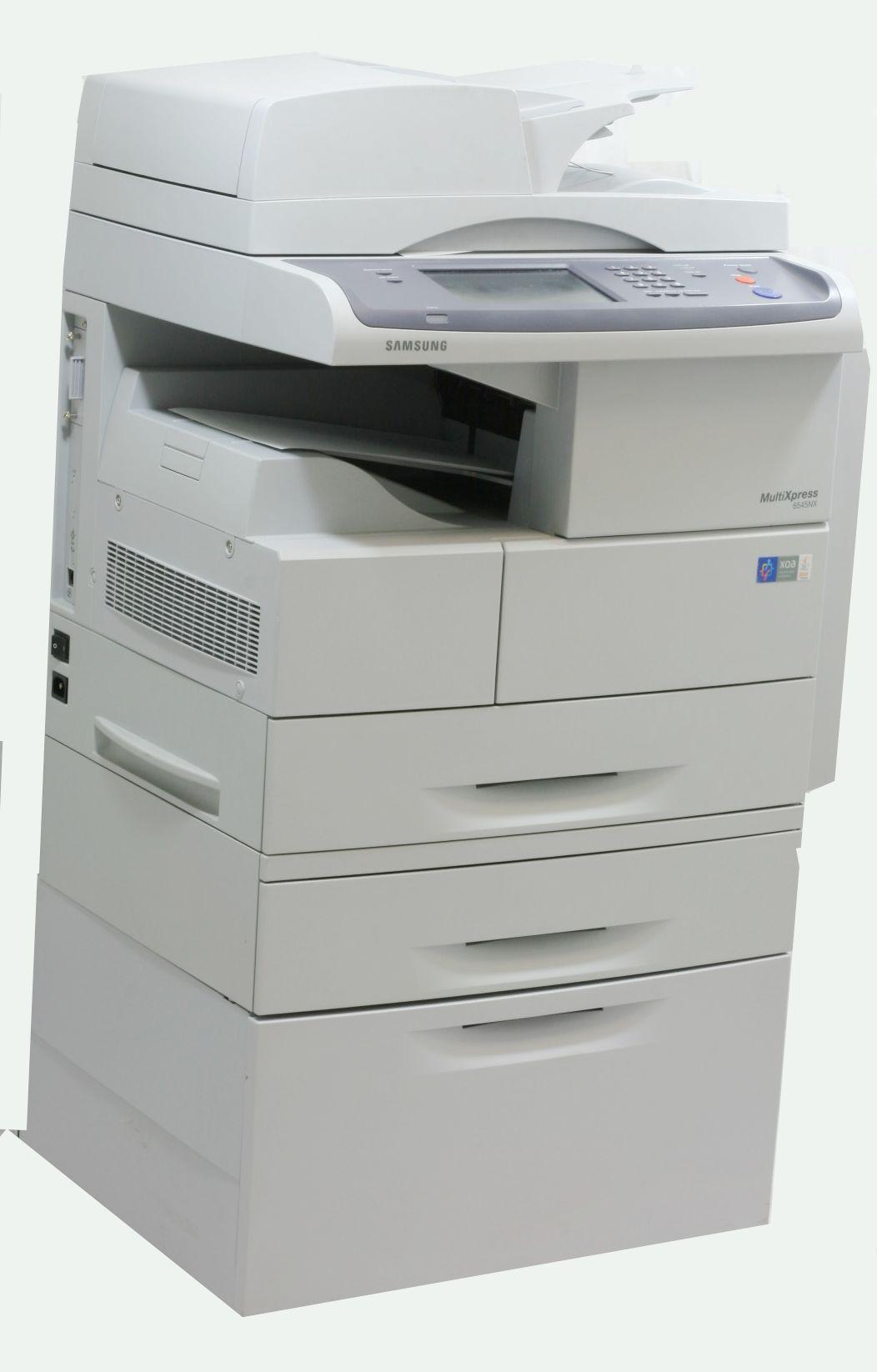 Samsung MultiXpress 6545NX Drucker Kopierer Scanner Fax gebraucht mit unterschrank