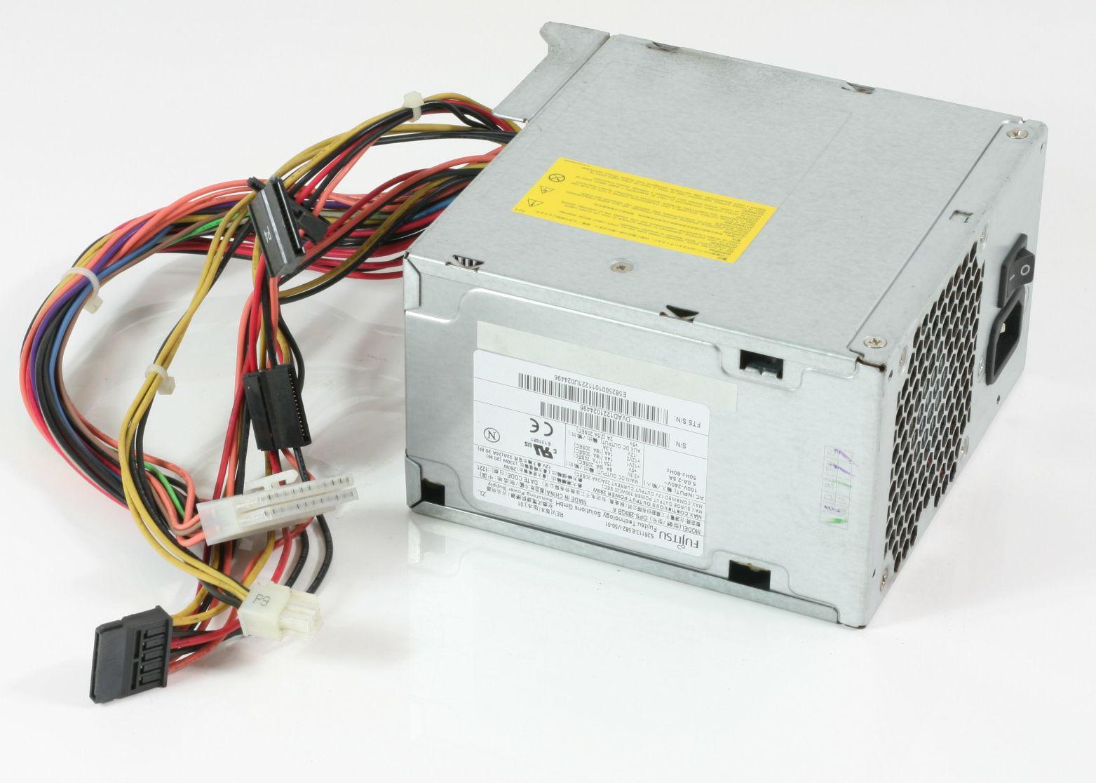 Netzteil ATX Fujitsu S26113-E582-V50-01 für Esprimo 280W DPS-280QB A gebraucht