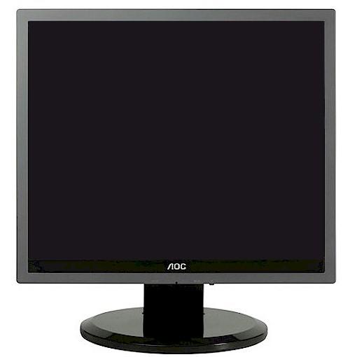 "AOC 919P2 Bildschirm 19 Zoll Monitor 48,3 cm LCD Flachbildschirm TFT 19"" gebraucht"