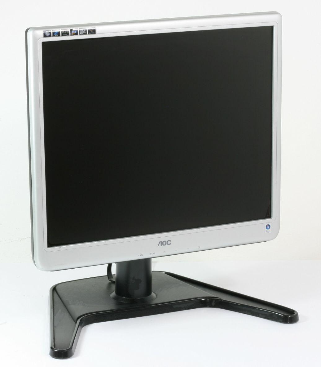 "AOC 197Pk2 Bildschirm 19 Zoll Monitor 48,3 cm LCD Flachbildschirm TFT 19"" gebraucht"